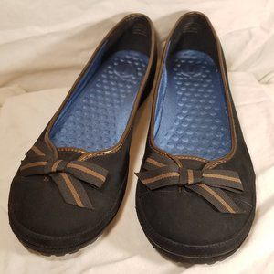 Privo by Clarks 76283 8 M Nubuck Leather Flats Bow
